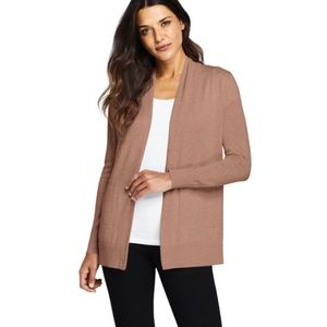 Lands End Beige Women's Cardigan Sweater